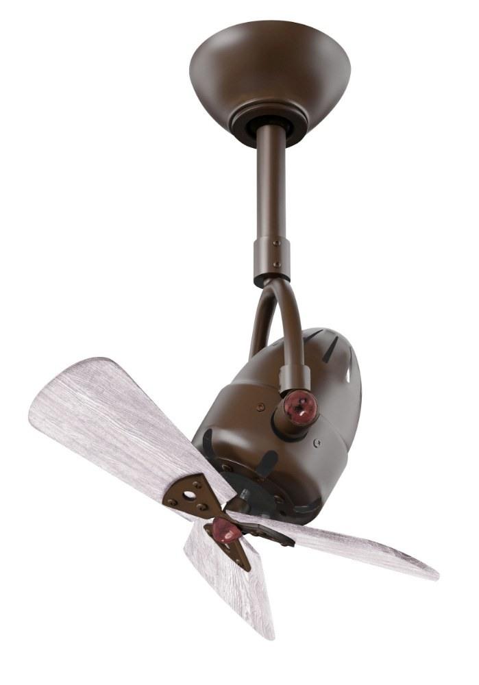 Matthews Fans-DI-TB-WDBW-Diane - 16 Inch 3 Blade Oscillating Directional Ceiling Fan Barn Wood Tone Textured Bronze Finish
