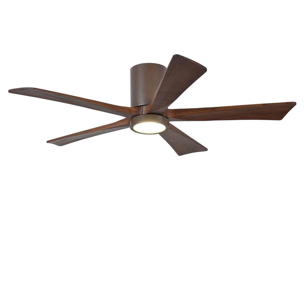 Matthews Fans Ir5hlk 52 Irene 5hlk 52 Inch Flush Mount Ceiling Fan With Light Kit