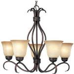 Basix - Five Light Chandelier - 10125ICSN