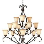 Basix - Fifteen Light Chandelier - 10129WSOI
