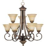 Brighton - Nine Light Two Tier Chandelier - 11177EVOI