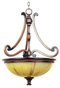 Maxim Lighting-12354PVUWW-Marquis 3 Light Pendant  Wormwood Finish