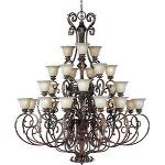 Augusta - Twenty-Seven Light 4-Tier Chandelier - 13569CFAF/CRY091