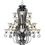 Fremont 4+4+8+8 Light Chandelier - 22248WSPD
