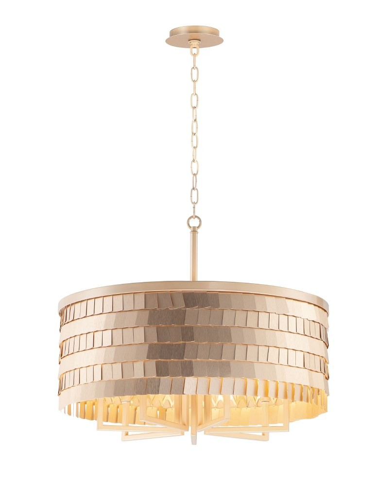 Maxim Lighting-26366CHPGLD-Glamour - 7 Light Chandelier  Champagne/Gold Finish