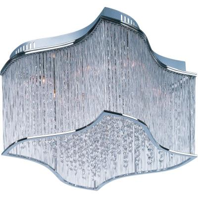 Maxim Lighting 39700CLPC Swizzle - Twelve Light Flush Mount