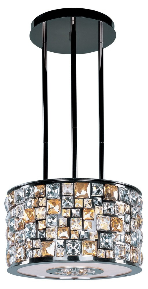 Maxim Lighting-39795JCLB-Fifth Avenue - Six Light Pendant  Luster Bronze Finish with Jewel Crystal Glass