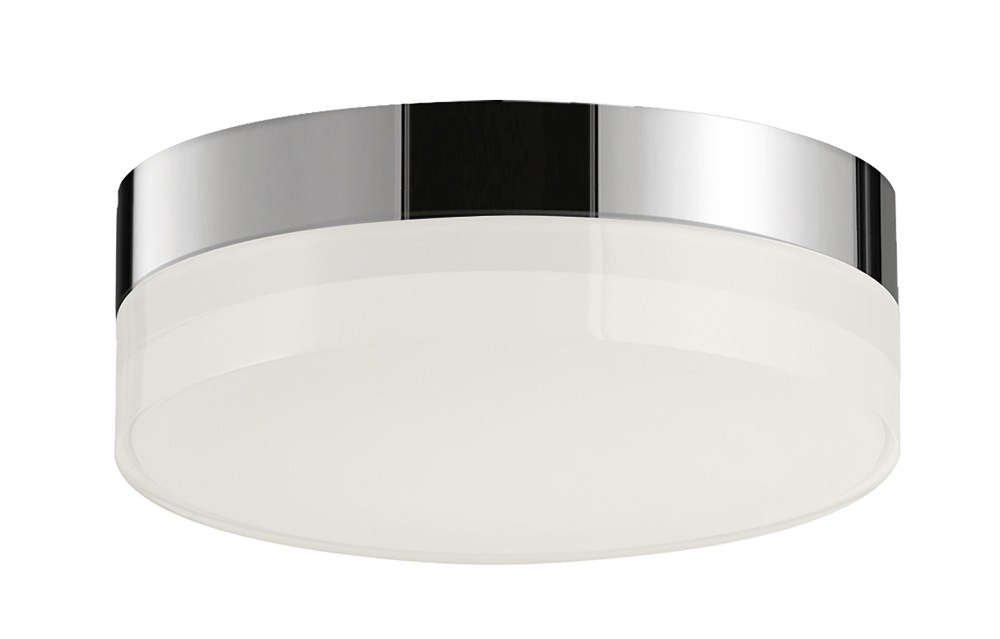 Maxim Lighting-57680CLFTPC-Illuminaire II - 5 Inch 12.5W 1 LED Round Flush Mount  Polished Chrome Finish with Clear/Frosted Glass