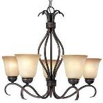 Basix ES - Five Light Chandelier - 85125WSOI