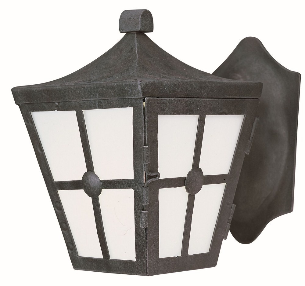 Maxim Lighting-86231FTCF-Castille EE 9.5 Inch Outdoor Wall Lantern  Forged Iron Approved for Wet Locations  Country Forge Finish with Frosted Glass