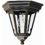 1 Light Flush Cast Outdoor - 1027BK