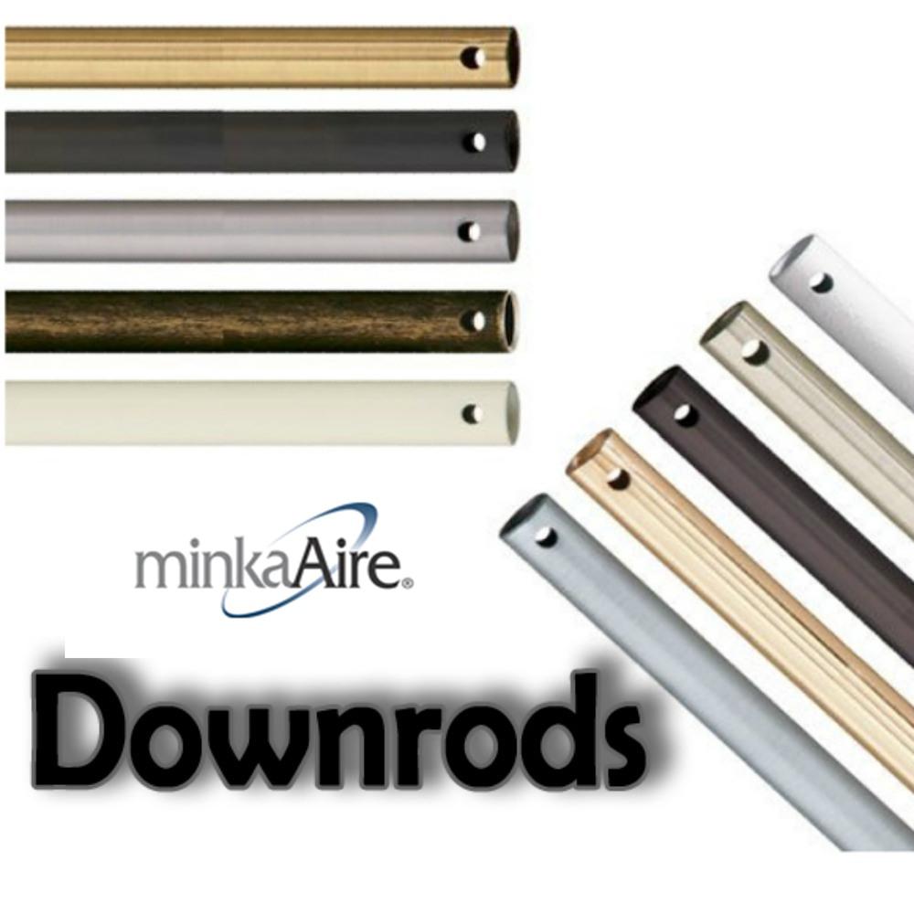 "Minka Aire Fans-DR572-BI-Accessory - Ceiling Fan Downrod Black Iron 72"" Downrod"