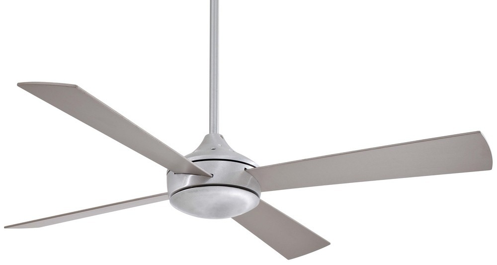 Minka Aire Fans-F521-ABD-Aluma - 52 Inch Ceiling Fan with Light Kit  Brushed Aluminum Finish with Silver Blade Finish with Etched Opal Glass
