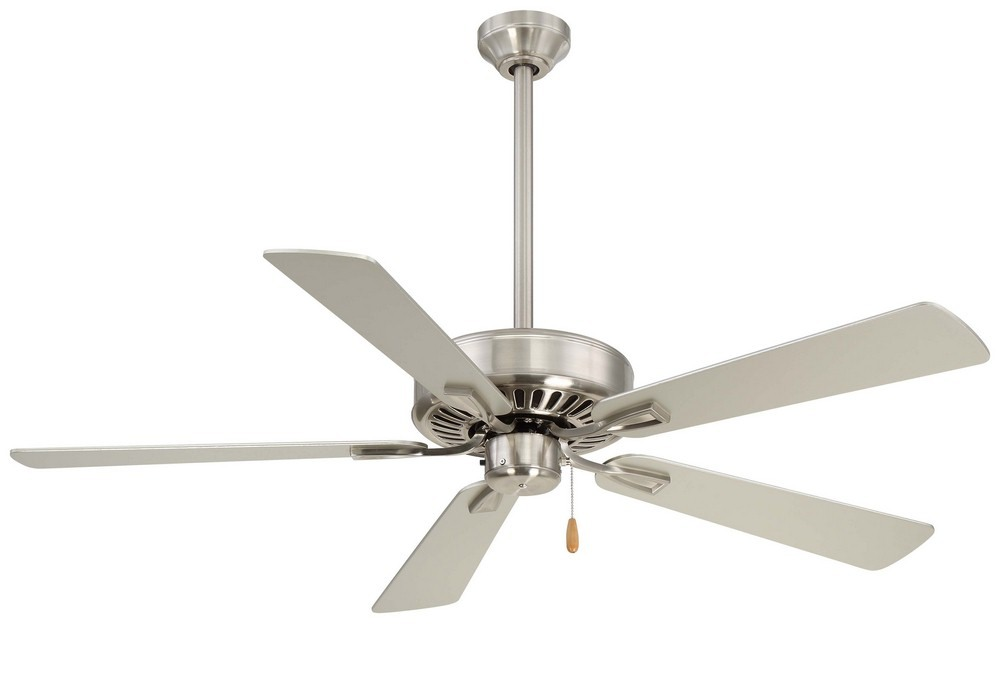 Minka Aire Fans-F556-BN-Contractor Plus - 52 Inch Ceiling Fan  Brushed Nickel Finish with Silver Blade Finish