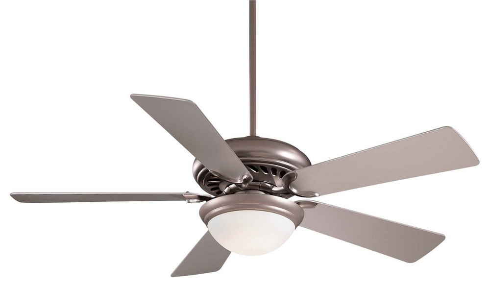 Minka Aire Fans-F569-BS-Supra - 52 Inch Ceiling Fan with Light Kit  Brushed Steel Finish with Silver Blade Finish with Opal Glass