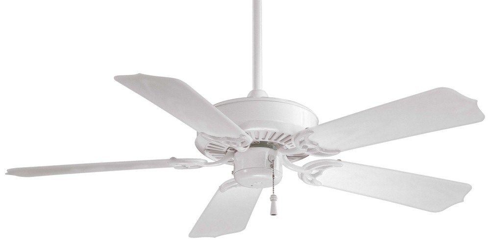 Minka Aire Fans-F572-WH-Sundance - 42 Inch Outdoor Ceiling Fan  White Finish with White Blade Finish
