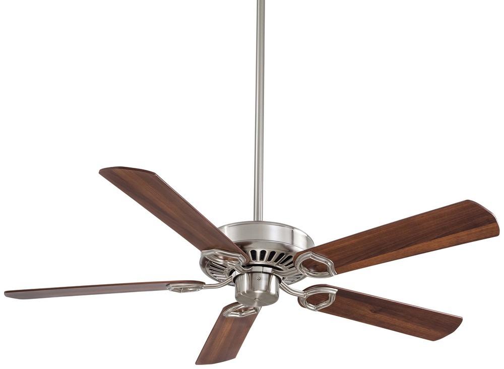 Minka Aire Fans-F588-SP-BN-Ultra-Max - 54 Inch Ceiling Fan  Brushed Nickel Finish with Dark Walnut Blade Finish