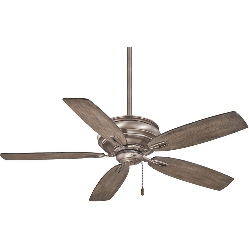 Minka Aire Fans-F614-BNK-Timeless - 54 Inch Ceiling Fan  Burnished Nickel Finish with Seashore Grey Blade Finish