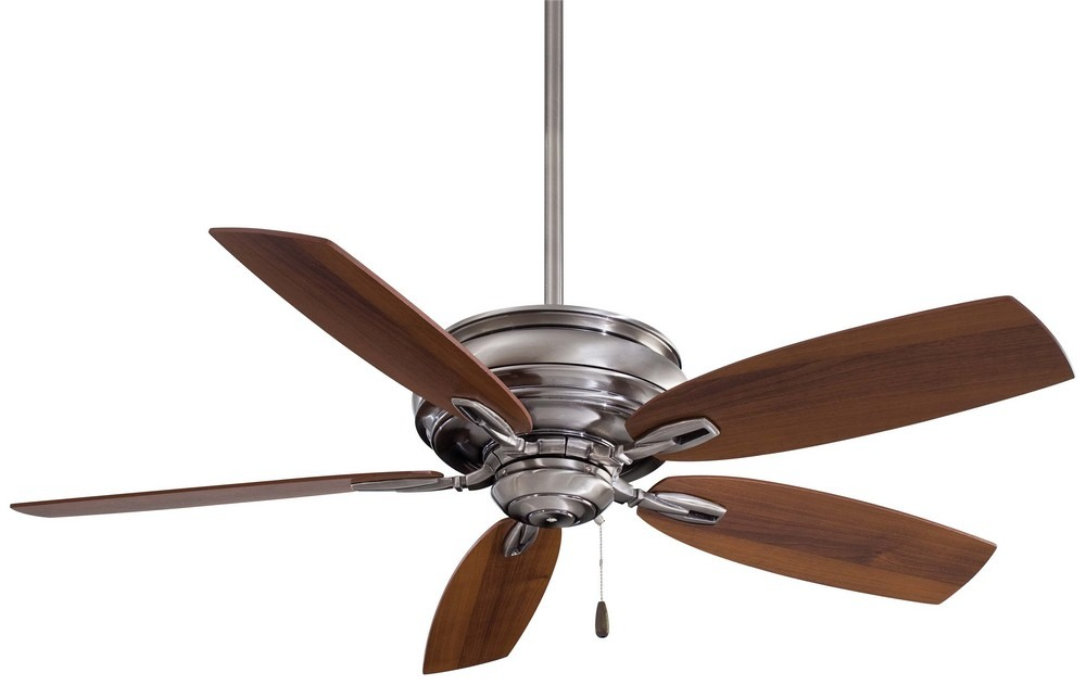 Minka Aire Fans-F614-PW-Timeless - 54 Inch Ceiling Fan  Pewter Finish with Dark Walnut Blade Finish