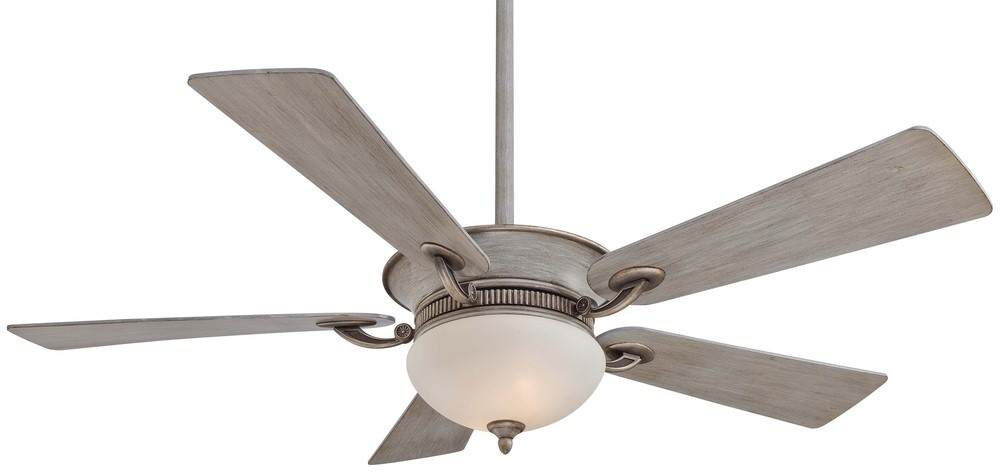 Minka Aire Fans-F701-DRF-Delano - 52 Inch Ceiling Fan with Light Kit  Driftwood Finish with Driftwood Blade Finish with Rustic Savo Glass