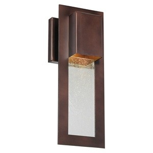 Minka Great Outdoors-72381-246-Westgate - 13 Inch One Light Outdoor Wall Mount  Alder Bronze Finish with Seedy Glass