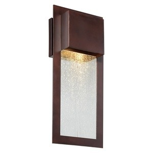Minka Great Outdoors-72382-246-Westgate - 15.75 Inch One Light Outdoor Wall Mount  Alder Bronze Finish with Seedy Glass