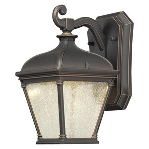 Minka Great Outdoors-72391-143C-Lauriston Manor - 10 Inch 10W 1 LED Outdoor Wall Mount  Oil Rubbed Bronze/Gold Finish with Clear Seeded Glass