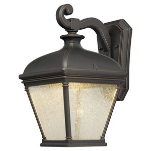 Minka Great Outdoors-72393-143C-Lauriston Manor - 15.75 Inch 10W 1 LED Outdoor Wall Mount  Oil Rubbed Bronze/Gold Finish with Clear Seeded Glass