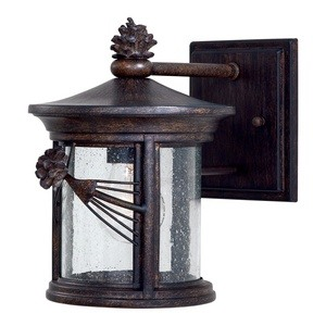 Minka Great Outdoors-9151-A357-Abbey Lane - One Light Outdoor Wall Mount  Iron Oxide Finish with Clear Seeded Glass