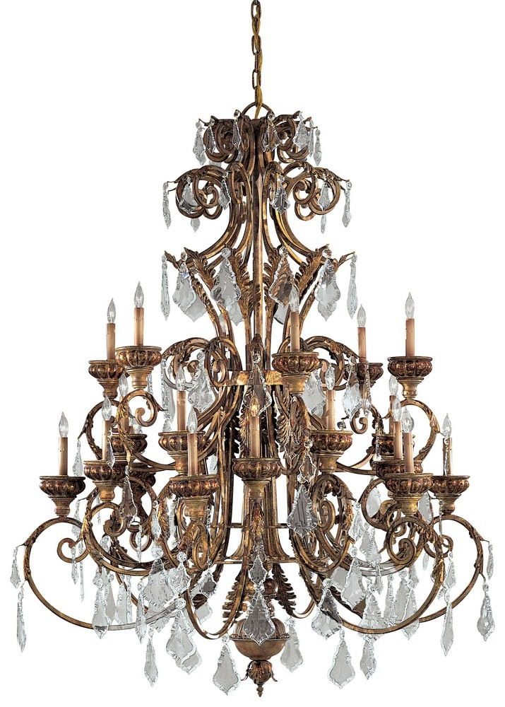 Minka Metropolitan Lighting-N6229-363-Twenty-Four Light 2-Tier Chandelier  Padova Finish with Clear Crystal