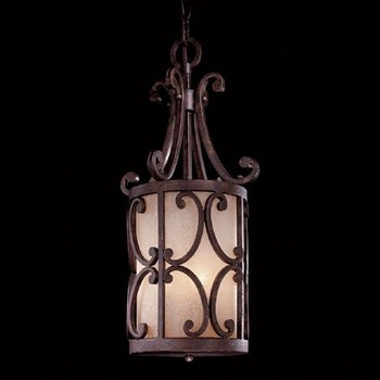 Minka Metropolitan Lighting-N6243-355-Zaragoza - Three Light Pendant  Golden Bronze Finish with Salon Scavo Glass