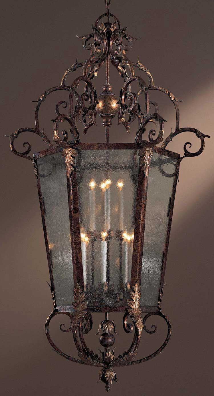 Minka Metropolitan Lighting-N3642-355-Zaragoza - Twelve Light Foyer  Golden Bronze Finish with Seedy Glass