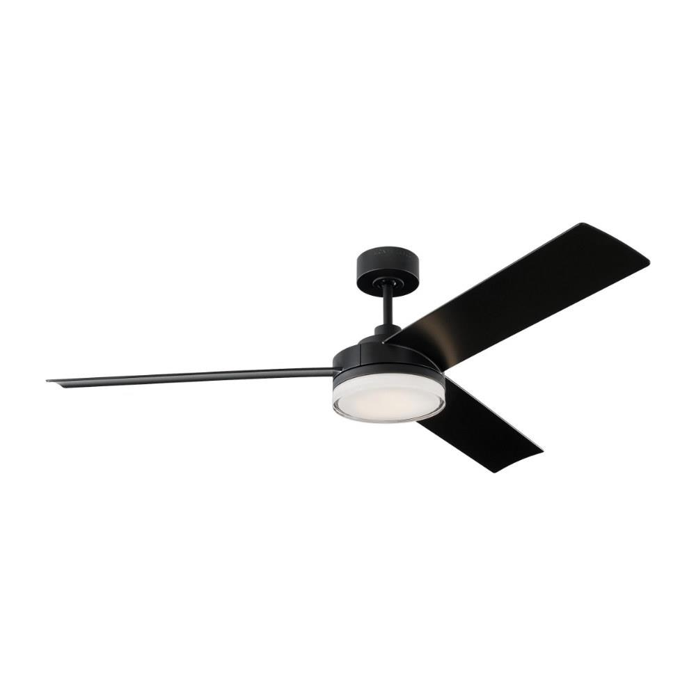 Monte Carlo Fans 3cqr56mbkd Cirque 3 Blade 56 Inch Ceiling Fan With Handheld Control And Includes Light Kit