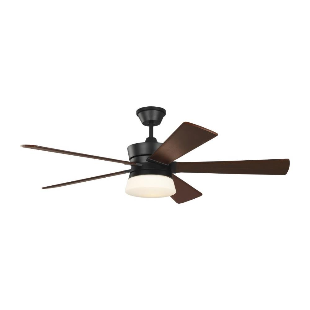 Monte Carlo Fans 5atr56mbkd Atlantic 5 Blade 56 Inch Ceiling Fan With Handheld Control And Includes Light Kit