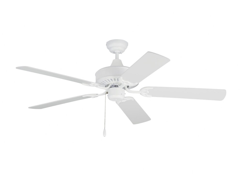 Monte Carlo Fans-5HVO52RZW-Haven 5 Blade 52 Inch Outdoor Ceiling Fan with Pull Chain Control  Matte White Finish with Matte White Abs Blade Finish