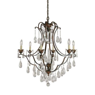 Feiss f18836brb 6 light chandelier mozeypictures Image collections