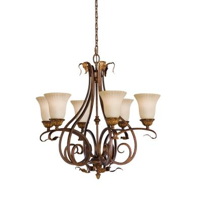 Feiss F2076/6ATS The Sonoma Valley Collection Chandelier