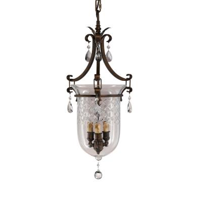 Feiss F2227/3ATS Salon Ma Maison Collection Chandelier - Hall Duo