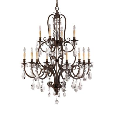 Feiss F2229/8+4ATS Salon Ma Maison Collection Chandelier - 2 Tiers