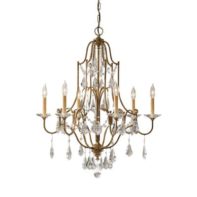 Feiss f24786obz valentina six light chandelier aloadofball Images