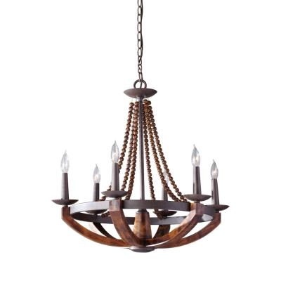 Feiss f27496ribwd adan six light chandelier mozeypictures Gallery