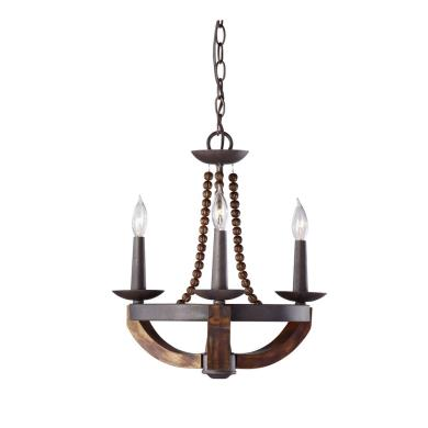 Feiss F2750 3ri Bwd Adan Three Light Chandelier