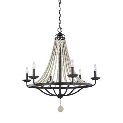 Feiss f31296dwzdwg nori six light chandelier mozeypictures Gallery