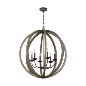 allier six light chandelier - Feiss Lighting