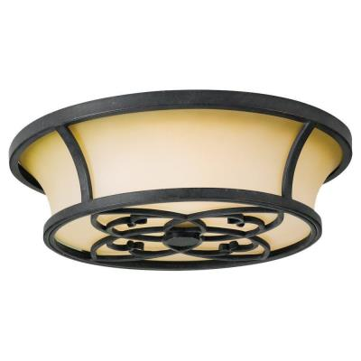 Feiss fm276 kings table three light flush mount