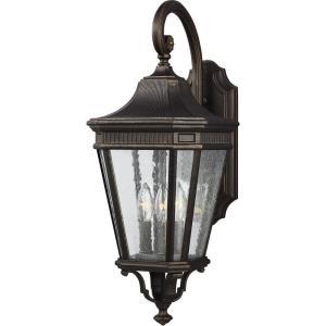 "Cotswold Lane - 9.5"" Three Light Outdoor Wall Lantern"