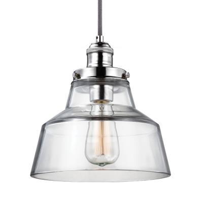 Feiss p1348 baskin 10 inch one light pendant aloadofball Images