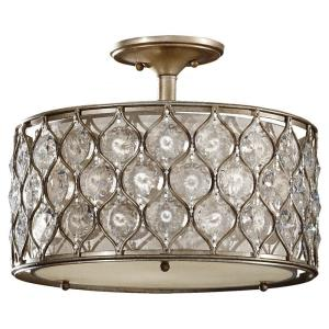 Lucia   Three Light Semi Flush Mount