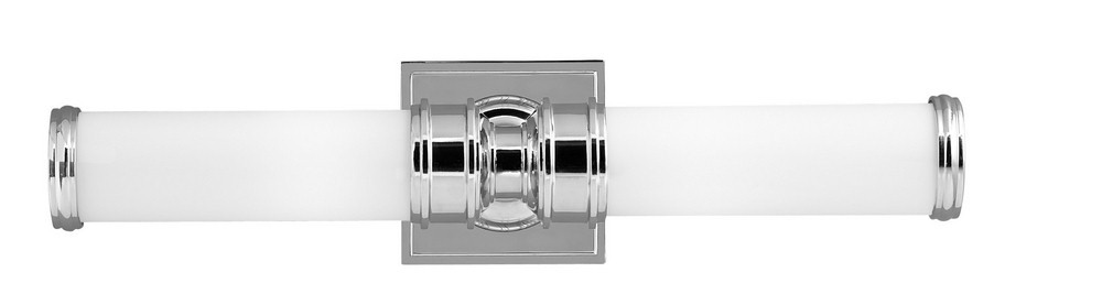 Feiss-VS48002-PN-Payne - Two Light Bath Bar  Polished Nickel Finish with White Opal Etched Glass
