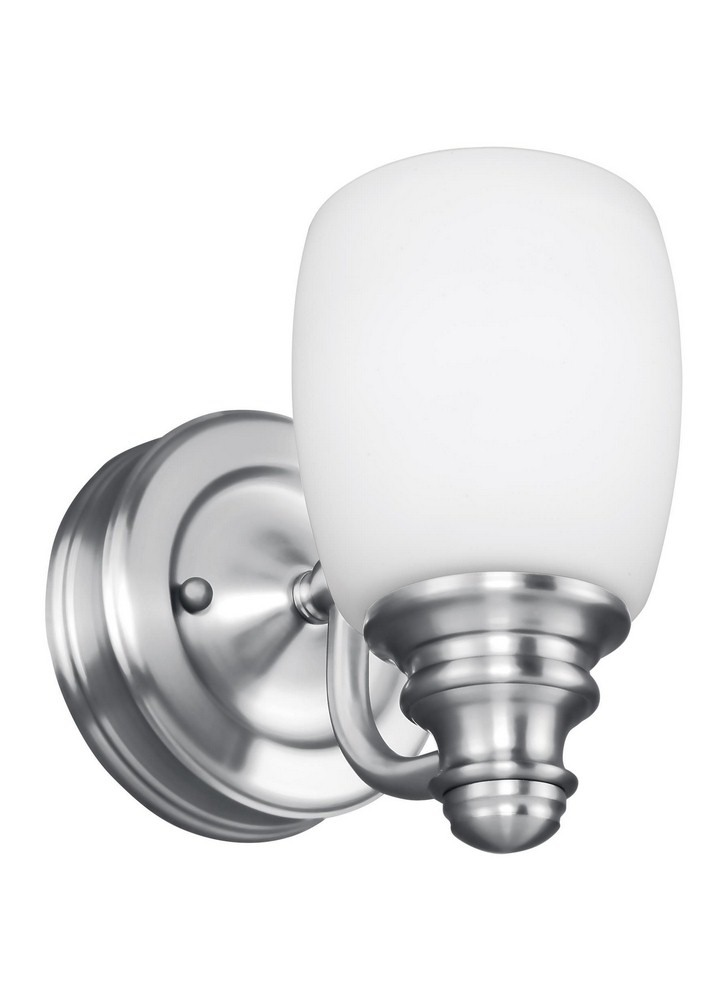 Feiss-VS7401-CH-Bentley 1 Light Traditional Vanity  Chrome Finish with White Opal Etched Glass